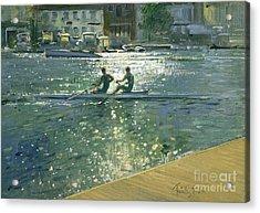 Crossing The Light Break - Henley Acrylic Print by Timothy Easton