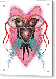 Crow Acrylic Print by Foltera Art