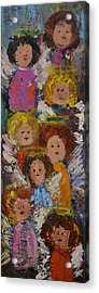Crowd Of Angels Acrylic Print by Kathy  Cuiffi