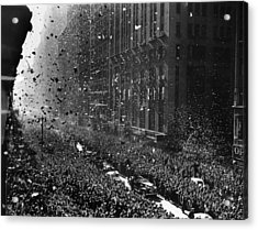 Crowds On Seventh Avenue In New York Acrylic Print by Everett