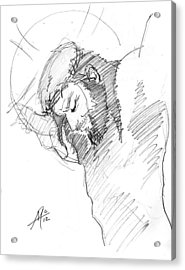 Crucifixion 3 Acrylic Print by Miguel De Angel