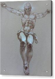 Crucifixion Acrylic Print by Valeriy Mavlo