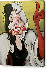 Cruella Acrylic Print by Lisa Leeman