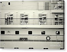 Cruise Reflections Acrylic Print by Dean Harte