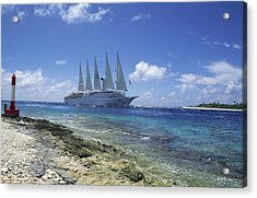 Cruise Ship Acrylic Print by Alexis Rosenfeld