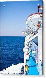 Cruise Ship Acrylic Print by Tom Gowanlock