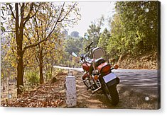 Cruiser In Autumn Acrylic Print by Kantilal Patel