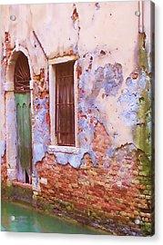 Crumbling Venetian Beauty Acrylic Print