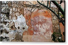 Crumbling Wall Acrylic Print by Kimberley Bennett