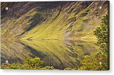 Crummock Water Acrylic Print by All my images are taken in the english lakedistrict