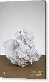 Crumpled Mistake Acrylic Print by Photo Researchers, Inc.