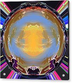 Crystal Ball Acrylic Print by Rick Thiemke