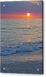 Crystal Blue Waters At Sunset In Treasure Island Florida 2 Acrylic Print