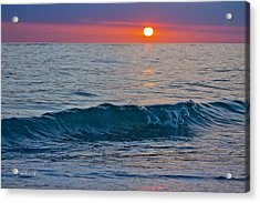 Crystal Blue Waters At Sunset In Treasure Island Florida 3 Acrylic Print