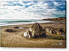 Acrylic Print featuring the painting Crystal Cove Sea Shore by Gregory Dyer