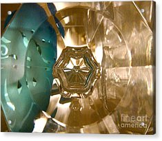 Crystal Glass Abstract Acrylic Print by Kathryn Barry