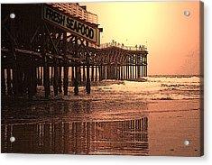 Crystal Pier  San Diego California Acrylic Print by Richard Shelton