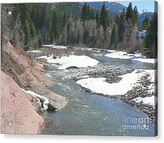 Crystal River Colorado Acrylic Print by Elizabeth Fontaine-Barr