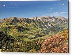 Crystal Valley Acrylic Print by Marty Koch
