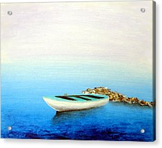 Acrylic Print featuring the painting Crystal Water Of The Mediterranean by Larry Cirigliano