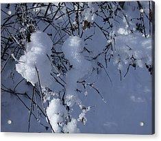 Crytalize Snow Shadows Acrylic Print
