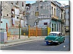 Acrylic Print featuring the photograph Cuba Vintage American Car  by Lynn Bolt
