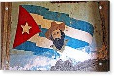 Cuban Flag Acrylic Print by Kimberley Bennett