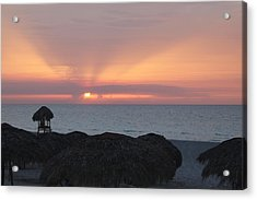 Acrylic Print featuring the photograph Cuban Sunset by David Grant