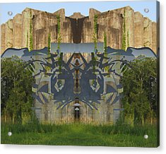 Cube Paintings Acrylic Print by Michele Caporaso