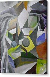 Cubist Kiss Acrylic Print by Ben Arthur