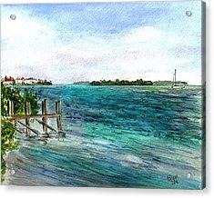 Acrylic Print featuring the painting Cudjoe Bay by Clara Sue Beym