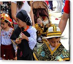Cuenca Kids 149 Acrylic Print by Al Bourassa