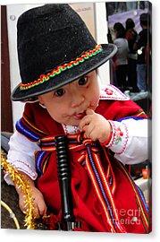 Cuenca Kids 19 Acrylic Print by Al Bourassa