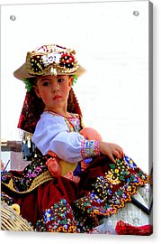 Cuenca Kids 193 Acrylic Print by Al Bourassa