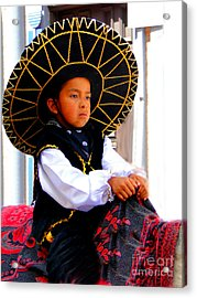 Cuenca Kids 194 Acrylic Print by Al Bourassa