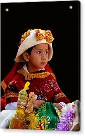 Cuenca Kids 196 Acrylic Print by Al Bourassa