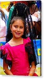 Cuenca Kids 213 Acrylic Print by Al Bourassa