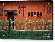 Acrylic Print featuring the photograph Cuernavaca Wall Mexico by John  Mitchell