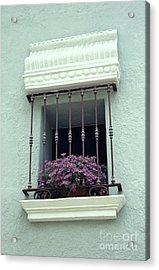 Acrylic Print featuring the photograph Cuernavaca Window  Mexico by John  Mitchell