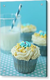 Cup Cake With Stars Topping Acrylic Print by Uccia_photography