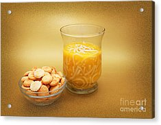 Cup O Soup And Oyster Crackers Acrylic Print by Andee Design