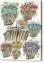 Cupcake Time Today Acrylic Print