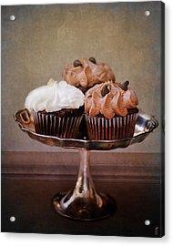 Cupcake Trio Acrylic Print by Jai Johnson