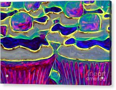 Cupcakes V2 - Painterly Acrylic Print by Wingsdomain Art and Photography