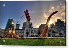 Acrylic Print featuring the photograph Cupid's Span by John Maffei