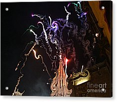 Acrylic Print featuring the photograph Curlies Fireworks by John  Kolenberg