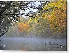 Current River Fall 44r Acrylic Print by Marty Koch