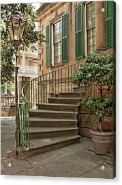 Curved Steps In Savannah Acrylic Print by Sandra Anderson