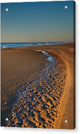 Curving To The Sea I Acrylic Print by Steven Ainsworth