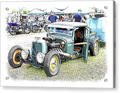 Custom 32 Ford Pickup Acrylic Print by Steve McKinzie
